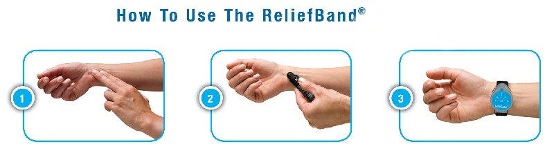 Relief Band Motion Sickness Bracelet Reliefband Remedy Cure Patch